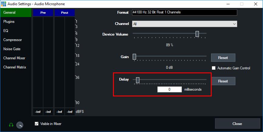 【录音】vMix 如何设置音频延迟以将音频和视频同步到一起
