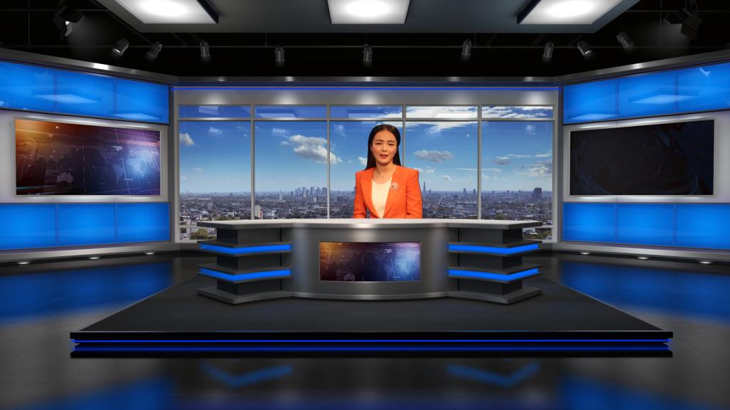vMix 新闻虚拟演播室场景002